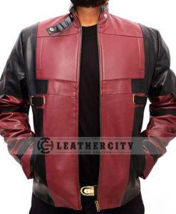 Deadpool Ryan Reynolds Leather Jacket Open Front