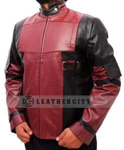 Deadpool Ryan Reynolds Leather Jacket Left