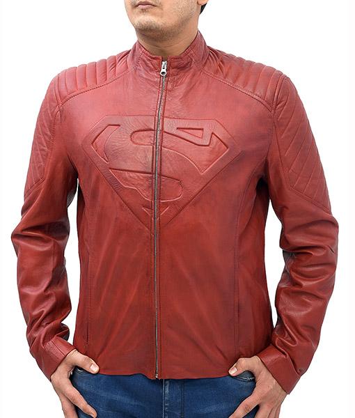 Men's Tom Welling Superman Smallville Jacket S front