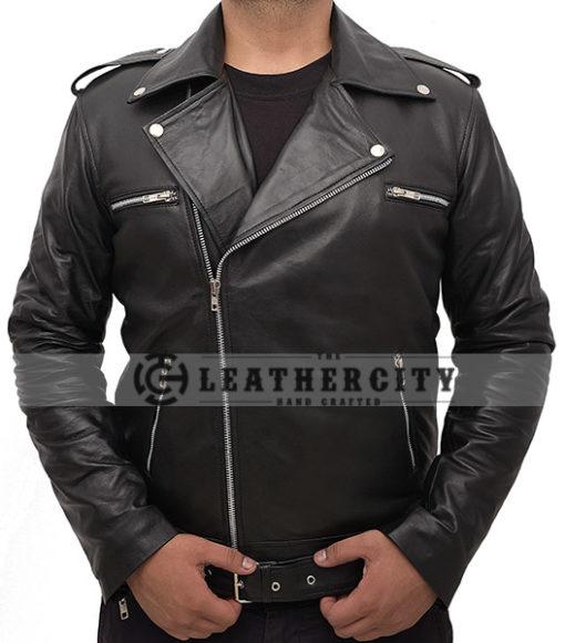 The Walking Dead's Negan Leather Jacket Front