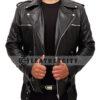 The Walking Dead's Negan Leather Jacket Front Open