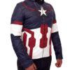 Chris Evan's Avengers Age of Ultron Captain America Jacket Left