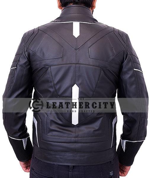black panther leather jacket - Back