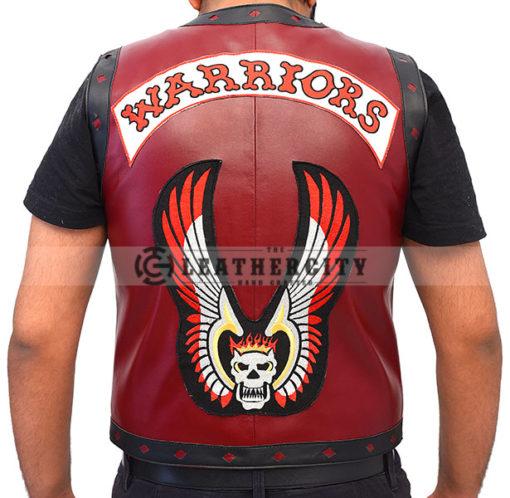 The Warrior Vest Leather Jacket Back