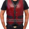 The Warrior Vest Leather Jacket Front