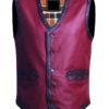 Warriors Leather Vest New Design front