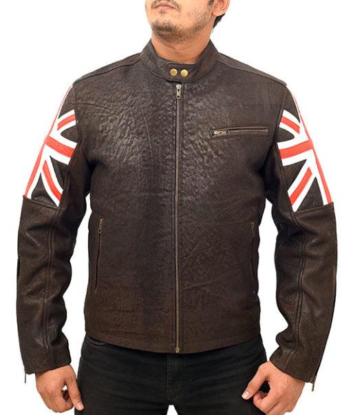 Vintage Cafe Racer Motorcycle Leather Jacket