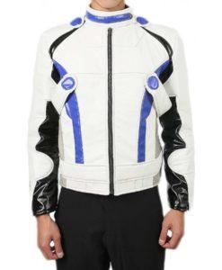 Liam Kosta White Leather Jacket