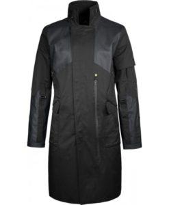 Adam Jensen Leather Coat