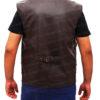Chris Pratt's Jurassic World Brown Leather Vest Back