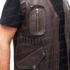 Chris Pratt's Jurassic World Brown Leather Vest Closure 1