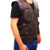 Chris Pratt's Jurassic World Brown Leather Vest Left