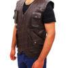 Chris Pratt's Jurassic World Brown Leather Vest Right