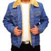 Love Simon's Simon Spier's blue jeans jacket Front