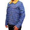 Love Simon's Simon Spier's blue jeans jacket Right