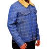Love Simon's Simon Spier's blue jeans jacket left