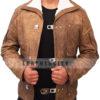 Wolfenstein The New Order Game William B.J Blazkowicz Leather Jacket Front 4