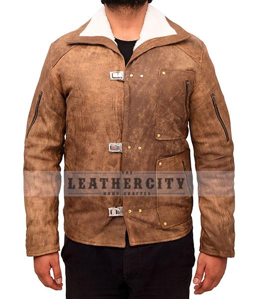 Wolfenstein The New Order Game William B.J Blazkowicz Leather Jacket Front
