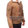 Wolfenstein The New Order Game William B.J Blazkowicz Leather Jacket Left